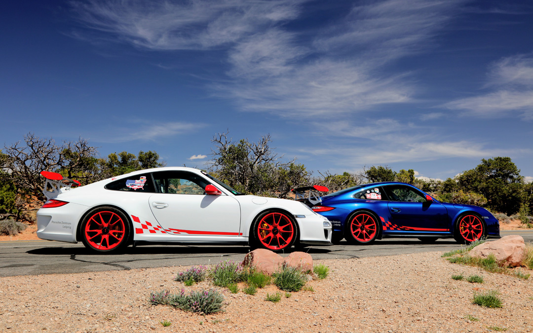 Legendary Twin 997 GT3 RS Porsches Complete Road Trip at California Festival of Speed